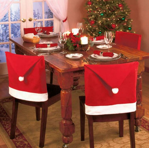 Pleasing Dhl Santa Claus Hat Shape Christmas Chair Cover Christmas Chairs Decoration Supplies Christmas Ornaments For Festival Party Home Decoration Big Bralicious Painted Fabric Chair Ideas Braliciousco