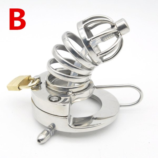 Male Chastity Cage 316L Stainless Steel Cock Lock with Soft Urethral Sound Catheter Male Bondage Dick Cage CBT Sex Toy for Man G213