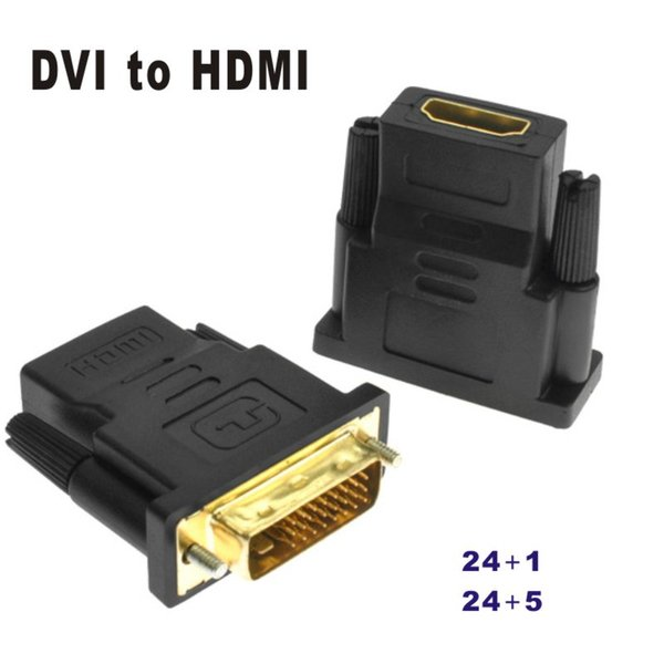 Gold Plated DVI to HDMI 24+1 24+5 Convert Male to Female Adapter Converter M-F adaptor extend cable