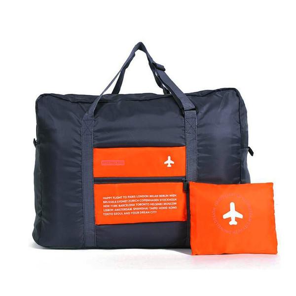wholesale-lagrest capacity portable luggage bag waterproof bags duffle folding waterproof nylon bag 3color option travel kits