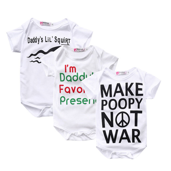 2019 Newborn Baby White Romper Toddler Unisex Porn Bodysuit Ruffle Jumsuit  Kidswear Clothing Outfit Cotton Infant Onesie Letter Pajamas Maxi From ...