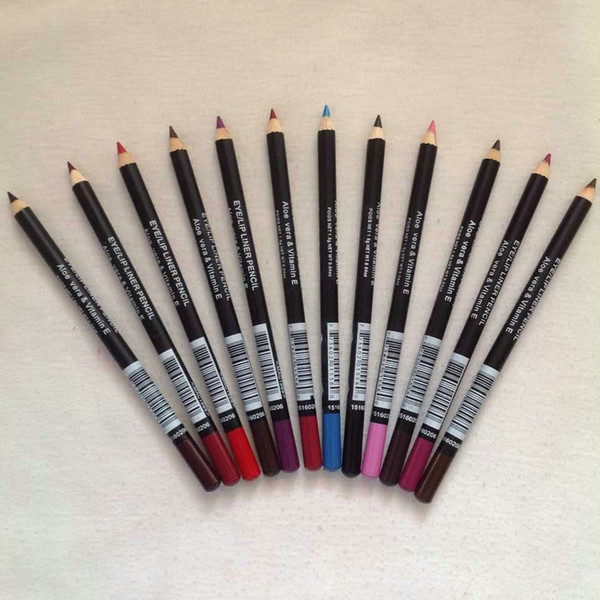 best selling Wholesale 72 PCS FREE SHIPPING NEW Eye LIP Eyeliner Liner Pencil Mixed Color & Brown