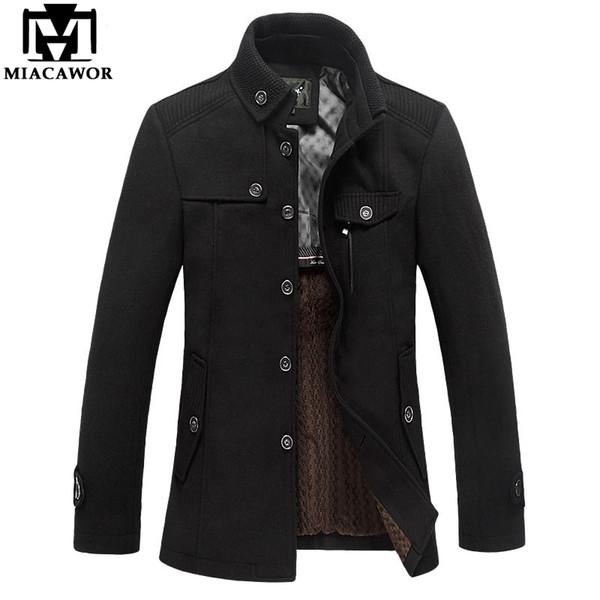 Von Ario72 Herren Großhandelsmarken Winter Kaschmir MJ381 Wollmischungen Herbst Jacke Trench Mantel Kleidung Herren Großhandel Wollmantel 96 Mantel OuXkiPZT