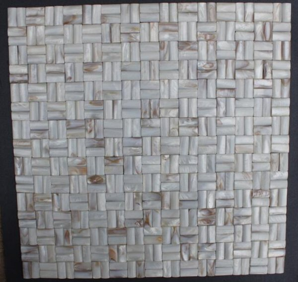 Style Of 3D Arch brick Weave Mother of Pearl Shell Mosaic Slabs Wall Tile Backsplash Modern - Best of black mosaic tile In 2019