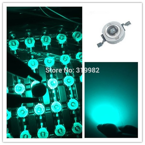 500 pcs 3W ice blue LED Chip Beads LED Lamp Diode Emitter Blue Green Lighting Source Cyan 700ma 3W Chip type 490nm 495nm 500nm
