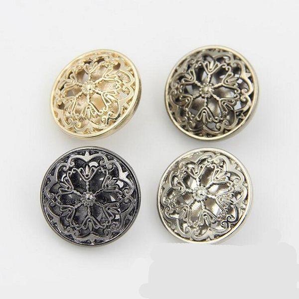 Buttons 18/20/22/25mm metal flower design for sweater coat shirt jacket handmade Gift Box Scrapbook Craft DIY Sewing accessories