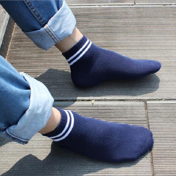 socks ankle cotton strip blue black white etcfor men man male boy spring autumn 24-26.5cm free size