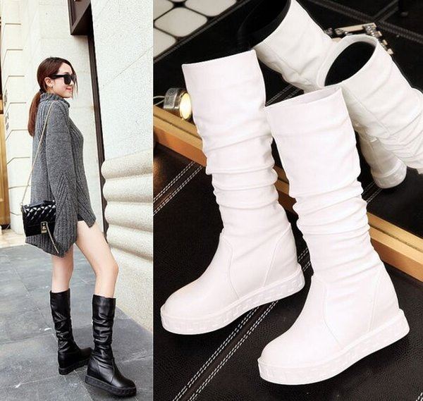 New Arrival Hot Sale Specials Super Fashion Influx Martin Roman Retro Female Large Size Leisure Cool Increased Knight Wedge Boots EU34-43