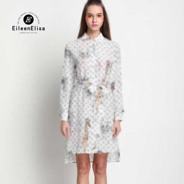 Großhandel Silk Kleider Frauen 2018 Berühmte Marke Kleid Brief ...
