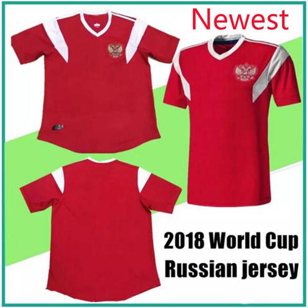 Free shipping Newest Russia 2018 World Cup shirt 18 19 Russia National Team Home Red Soccer Jersey Kokorin Dzyuba Smolov Football Shirts