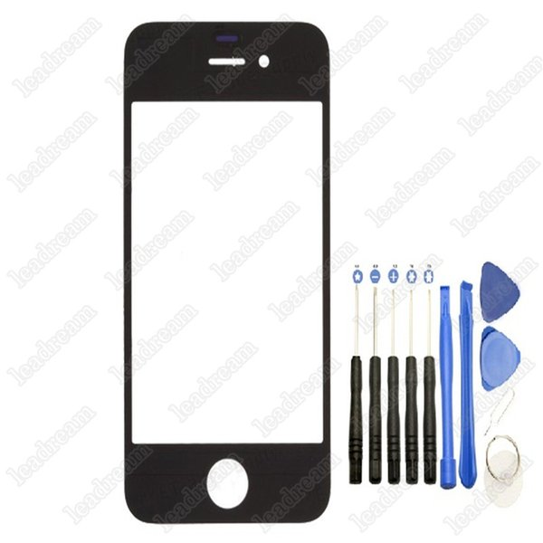 Front Outer Touch Screen Glass Replacement for iPhone 4 4s Black White with Tools