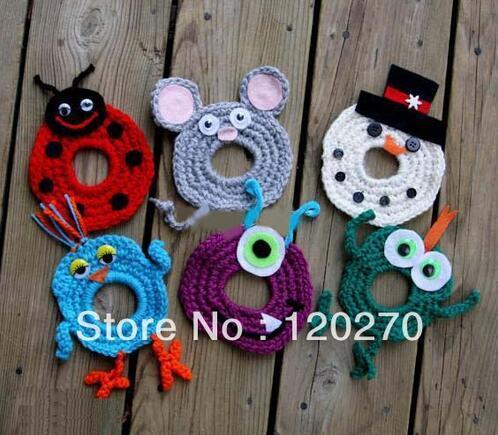Envío gratis Boutique Crochet Animal Toys Regalos de Navidad OWL Camera Lens Hoods SLR Camera Lens Buddies Toy Kid Hat Newborn Photographer Helper