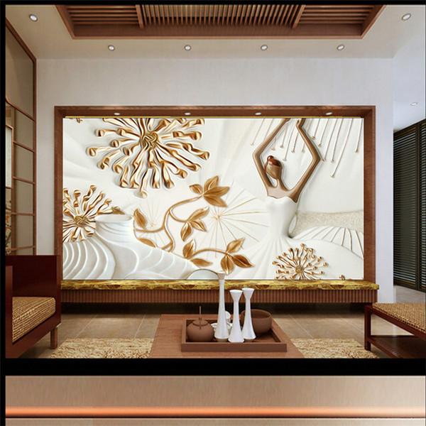 Großhandel Modernes Muster Geprägt Wandbild TV Hintergrund Wand Wohnzimmer  Schlafzimmer Schöne Mädchen Ballett Hintergrund Tapete Tapete Von Fumei66,  ...