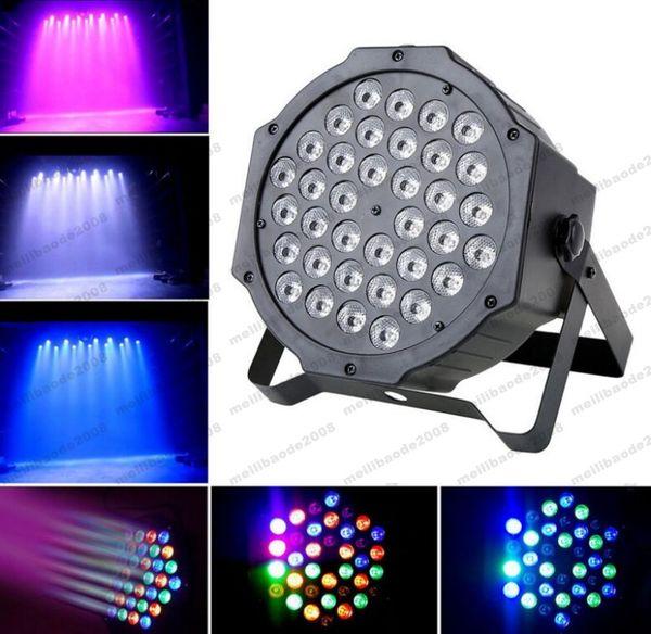 2017 NUEVO DMX Led Par 36w RGB LED Etapa Par Light Wash Atenuación Estroboscópica Luces de efecto de iluminación para disco DJ Fiesta Show MYY