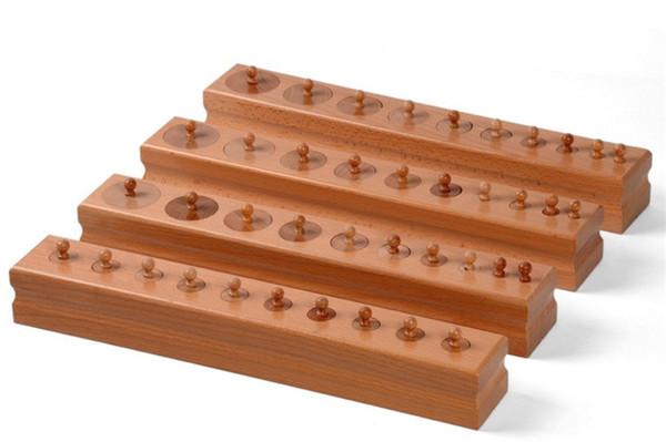 Neue Holz Baby Spielzeug Montessori Zylinder Blöcke sensorische Vorschultraining frühkindliche Bildung