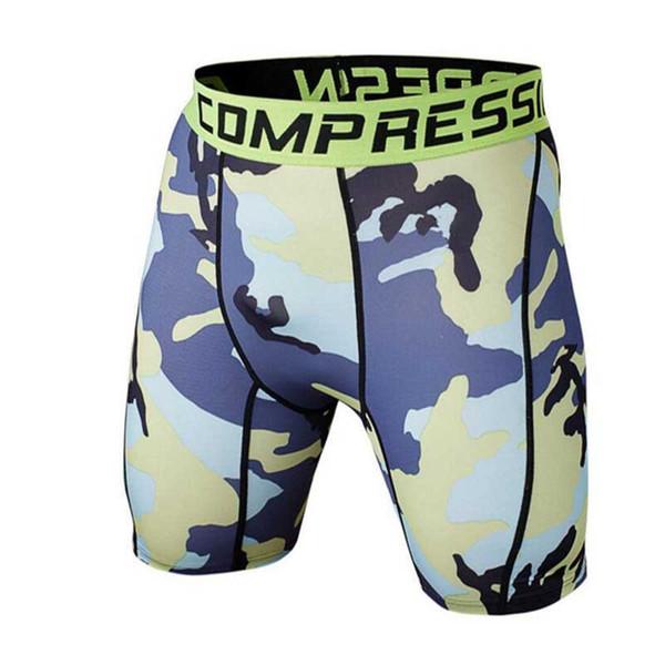 Pantalones cortos de compresión al por mayor-2016 de los hombres de alta calidad elásticos cortos de compresión Homme Joggers hombres bermudas corto Masculino
