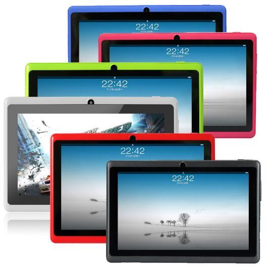 CIGE Free Ship 7 inch Q88 Tablet pc Dual camera Android 4.4 A33 7 Inch Tablet PC Quad Core CPU wifi/bluetooth tablets 512GB/4GB
