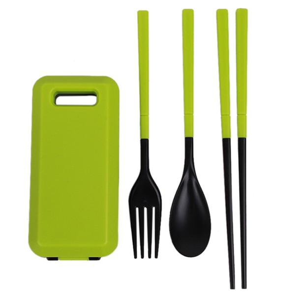 1Set Portable Travel Kids Adult Cutlery Travel Fork Tableware Dinnerware Sets Camping Picnic Set Gift For Child Kids