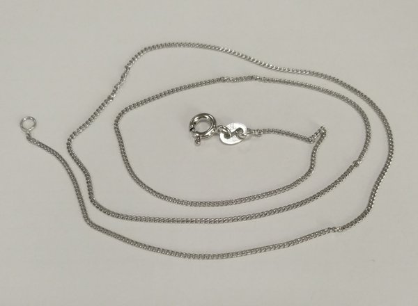 Fashion jewelry 925 Sterling Silver Necklace chain rhodium plating 42cm 1.5g Free Shipping