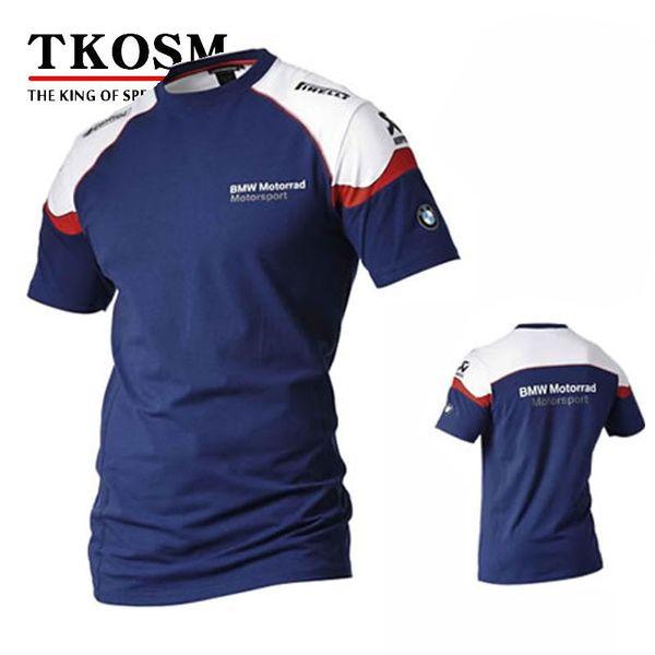 top popular TKOSM 2017 Motorcycle T-shirt BMW Moto GP T-shirt Motocross Cross Country T-shirt Wicking Perspiration Racing Motorcycle Shirt 2019