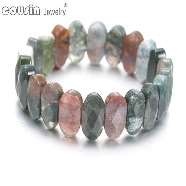 SZ0451k Fashion High Quality Charm Natural Crystal Stone Men Bracelet Rhombus Beaded Bracelets&Bangles For Women Jewelry