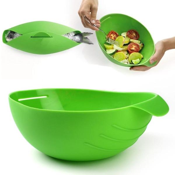 Творческий силиконовые рыбы приготовления чаши паровая плита выпечки хлеб растительное чаша корзина кухня кулинария инструменты посуда бесплатная доставка
