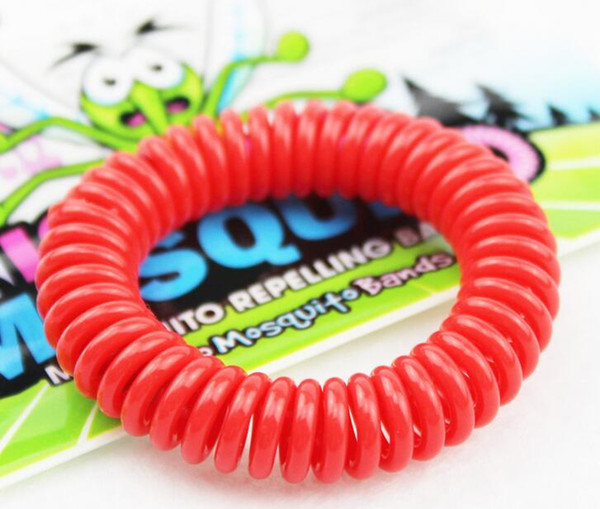 top popular 2017 New Mosquito Repellent Bracelet Stretchable Elastic Coil Spiral hand Wrist Band telephone Ring Chain Anti-mosquito bracelet 2019