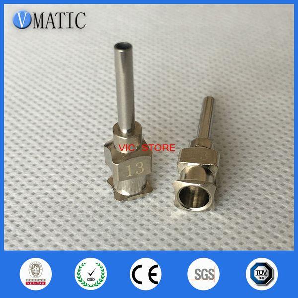 0.5 inch Tip Length 13G All Metal Tips Blunt Stainless Steel 12PCS Glue Dispensing Needles Syringe Needle Tips