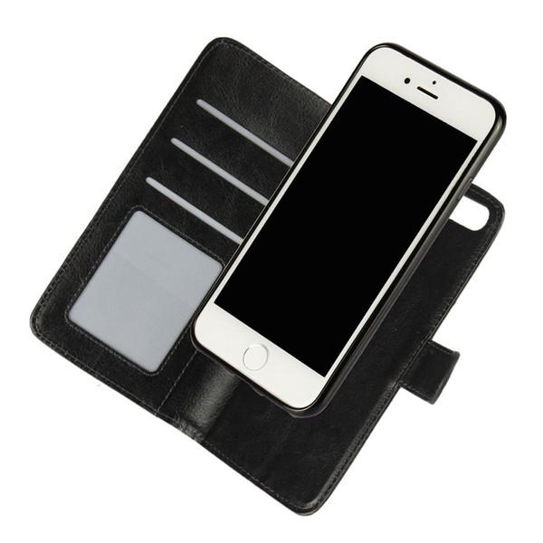 Für iPhone 6S 7 Plus Fall Abdeckung 2 in 1 Abnehmbare Magnet Flip Leder Wallet Cases Funda Capa Coque Für Galaxy S7 Rand