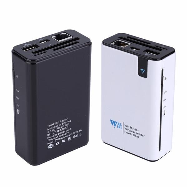 Бесплатная доставка беспроводной кард-ридер USB-концентратор RJ45 порт 3G Hotspot Wi-Fi маршрутизатор внешний Банк питания 7800 мАч для любого смартфона Tablet PC ноутбук