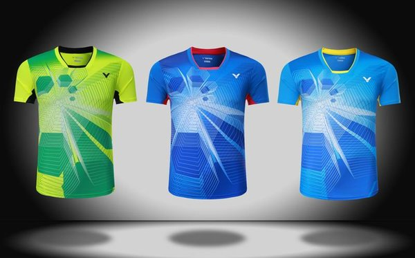 Free shipping 2017 New VICTOR badminton wear t-shirts train clothes, men and women table tennis jersey polyester quick drytennis shirts 3072