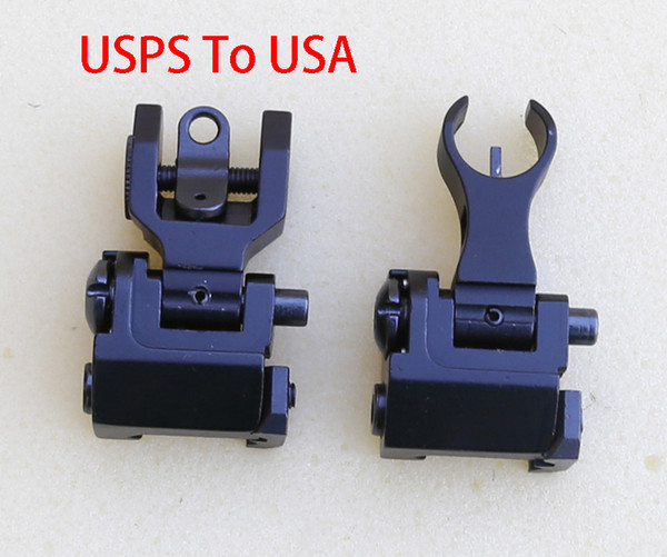 Iron Front and Rear Sight In Black Sent From USA By USPS.Takes 3-5 Days On The Way
