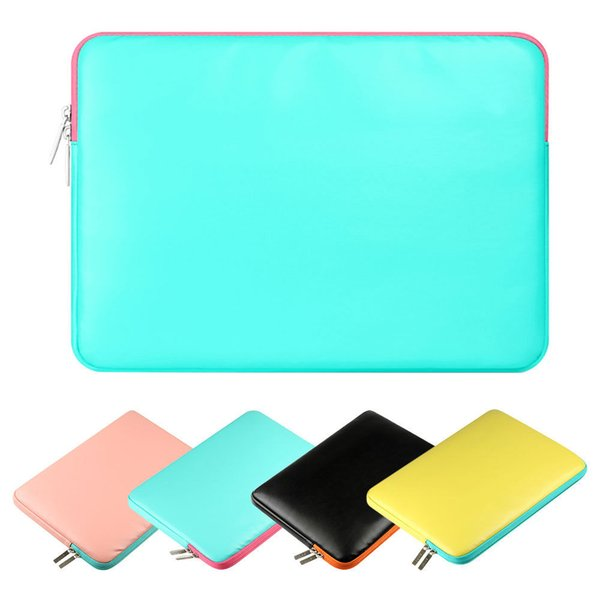 """For MacBook Air Pro Retina 11.6"""" 13.3"""" 15.4"""" PU Leather Sleeve Case Laptop Bag"""