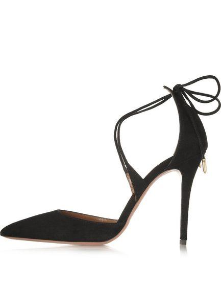 Zandina Ladies Handmade Fashion 100mm tacco alto Lace Up Crossstraps scarpe a punta punta Sandali scarpe in pelle scamosciata nera