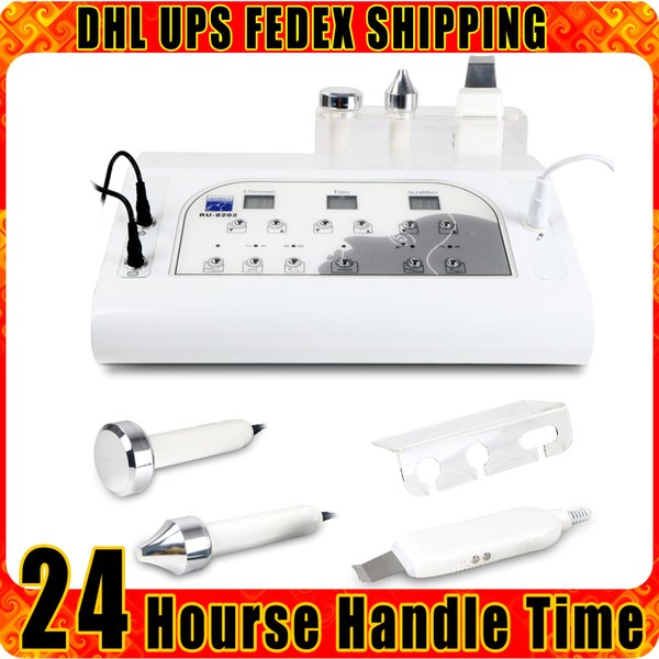 2in1 Ultrasonic Scrubber Whitening Dead Skin Removal Ultrasound RF Rejuvenation Wrinkle Reduce Anti-aging Beauty Machine for Home
