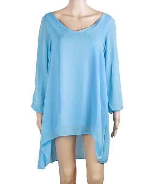Women's Clothing Chiffon Plus Size A-line Dresses Long-sleeved Nightclub Skirt