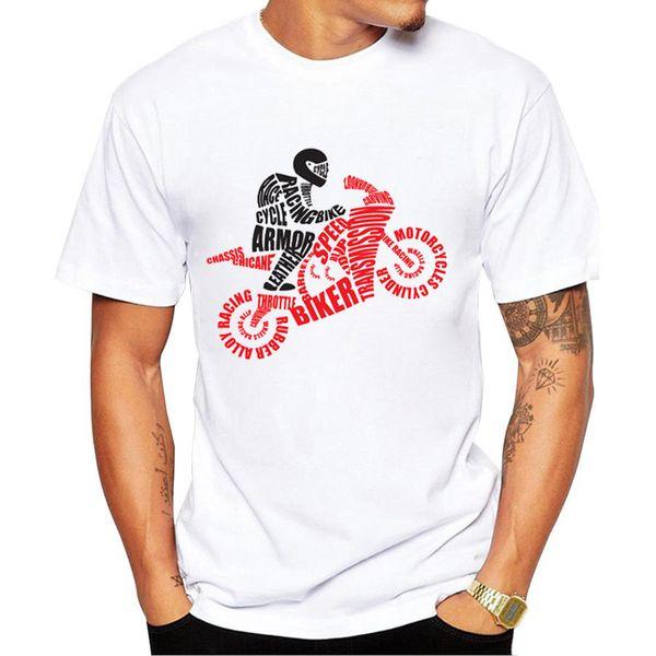 2017 mode Motorrad Männer Druck T Shirts männer T-Shirt Shorts Hülse Marke NEUE Sommer Männlichen Tops Tees Casual Shirts für Mann