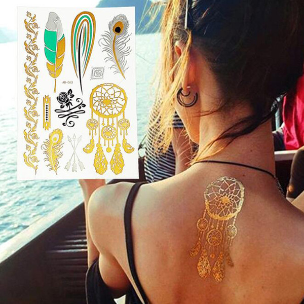 Fashion Waterproof Hot Temporary Tattoo Stickers 14.5*21cm High Quality body art tattoo sticker tattoo 2017 new style