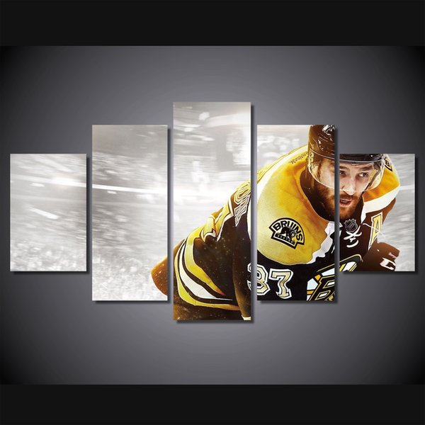 5 Pcs/Set Framed HD Printed Ice Hockey Sport Picture Home Decor Canvas Poster Cheap Abstract Oil Painting