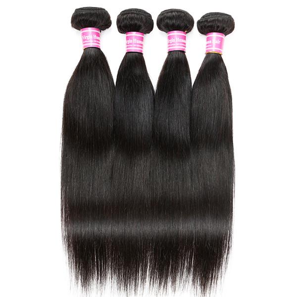 Capelli umani vergini diritti intrecciati brasiliani caombotiani indiani mongoli malesi peruviani dei capelli estensioni macchina doppia trama non trasformati