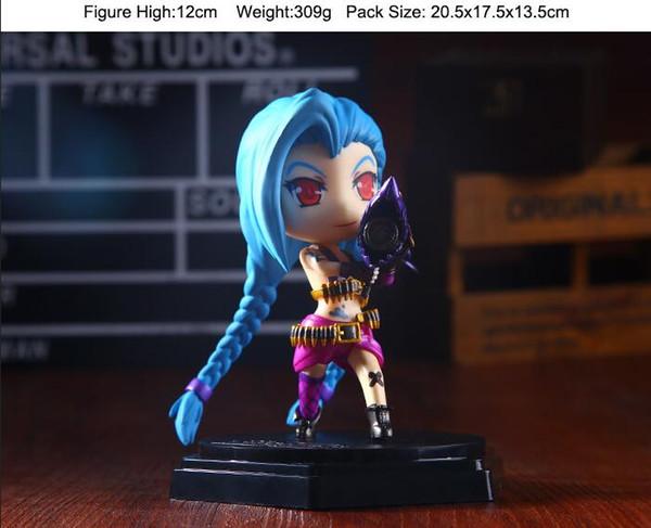 2017 New LOL league of legends figure Figure Cute Jinx Q jinx PVC Anime LOL Action Figures Model Toys by DHL
