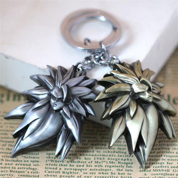 Gros Animation Bijoux dragon ball Caractéristique Porte-clés Vintage En Métal Alliage Porte-clés Taille 6 * 4.5 cm