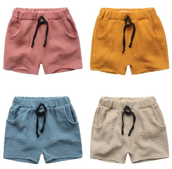 Cheap New Baby Kids Summer Shorts Girls Boys Short Pants Elastic ...
