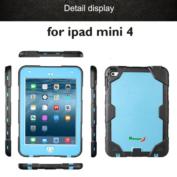 2017 Original Redpepper Waterproof Case For ipad mini 4 Water/Shock/Dirt/Snow Proof cover underwater to IP-68 standards with retail package