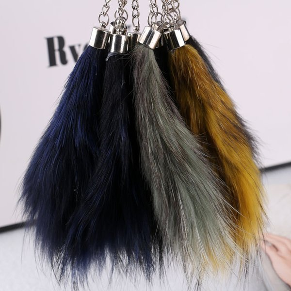 2016 of the new fox tail hair bag ornaments key buckle mobile phone accessories, automotive