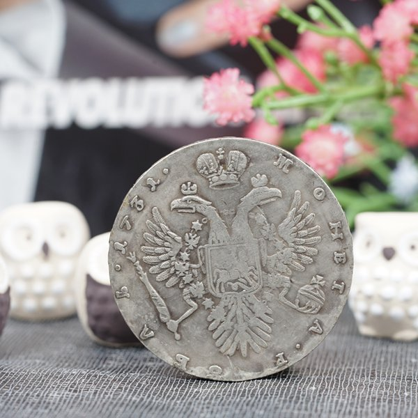 1731 Russia 10 Kopeks Double-head Eagle Coin Commemorative Coins