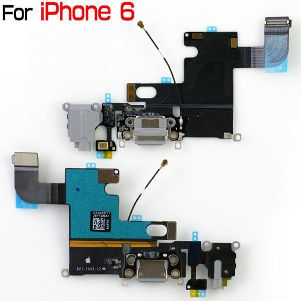 Ladeanschluss Flex für iPhone 6 Dock Connector Ladeanschluss Flexkabel Ersatzteile für iPhone6 4,7 Zoll Kopfhörer Audio Jack