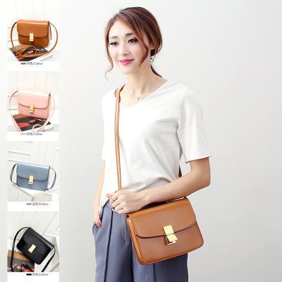 New designer Genuine leather single shoulder messenger bag women fashion cow leather evening purse lady casual bag black/blue/brown/pink
