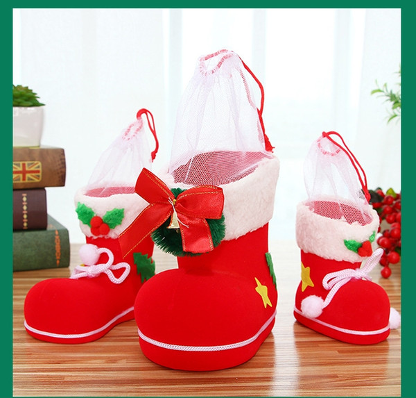 2018 new christmas decorations furnishing articles children gift hedai boots christmas gifts