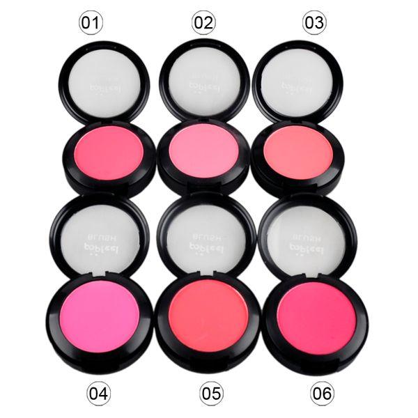 Single Makeup Blush Cosmetic Blush Face Powder Foundation Plus Face Blusher with Blush Brush Compact Mirror 6g 2802017